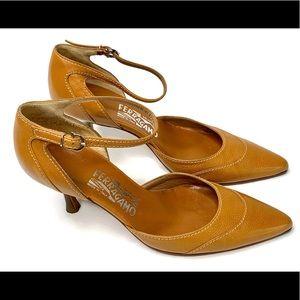 Salvatore Ferragamo Ankle Wrap Heels size 8